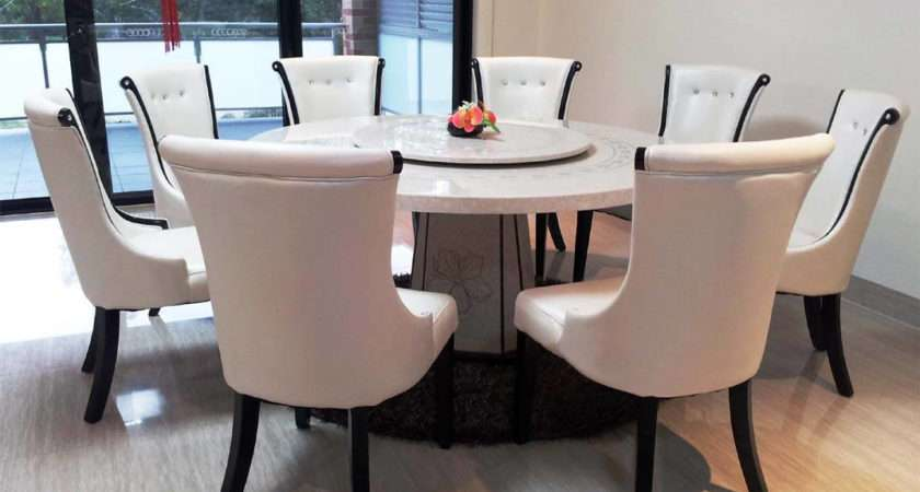 Granite Dining Table Set Flooding Room