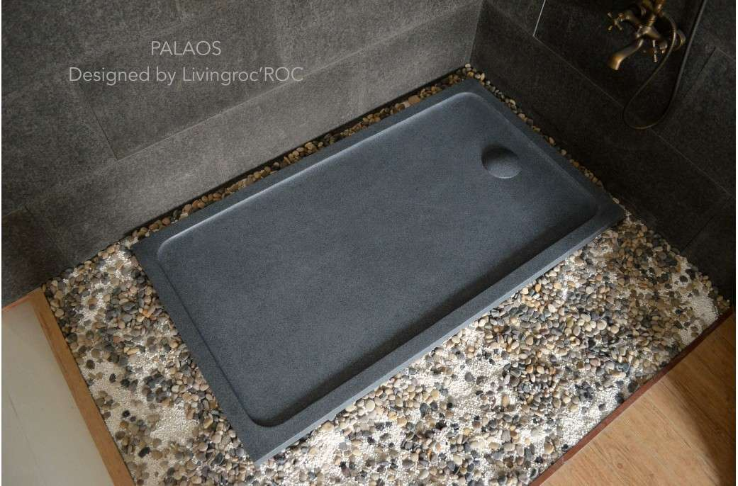 Granite Stone Wet Room Shower Tray Grey Palaos