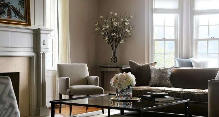 Gray Brown Living Room Glass Coffee Table