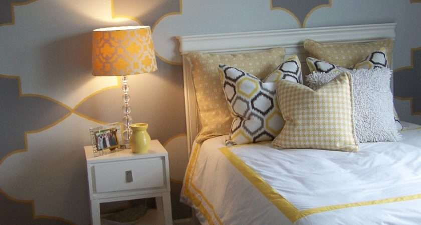 Gray Yellow Teen Tween Room Design Dazzle