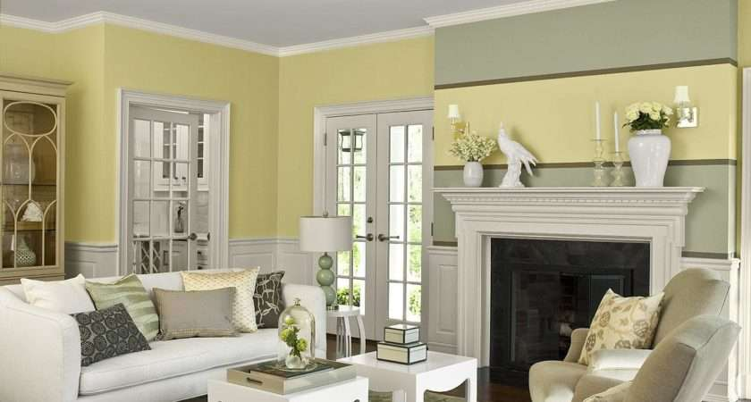 Great Yellow Living Room Chairs Paint Color