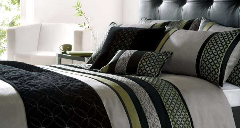 Green Black Bedding Decorate House
