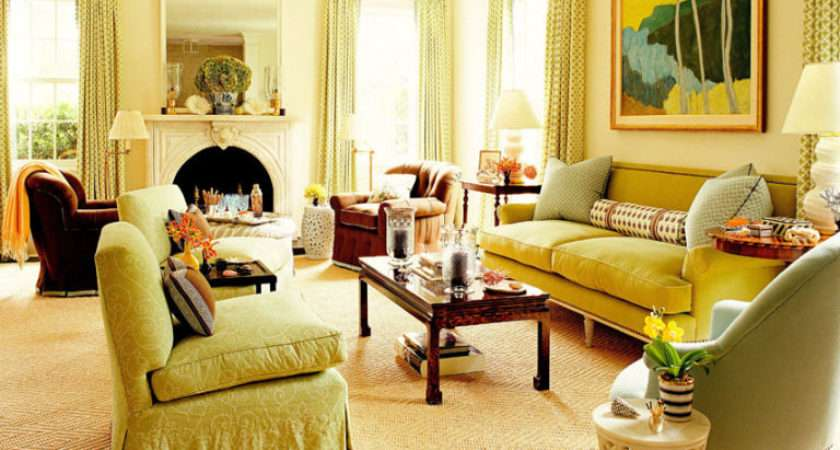 Green Living Rooms Ideas
