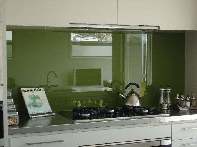 Green Splashback Kitchen Backsplash