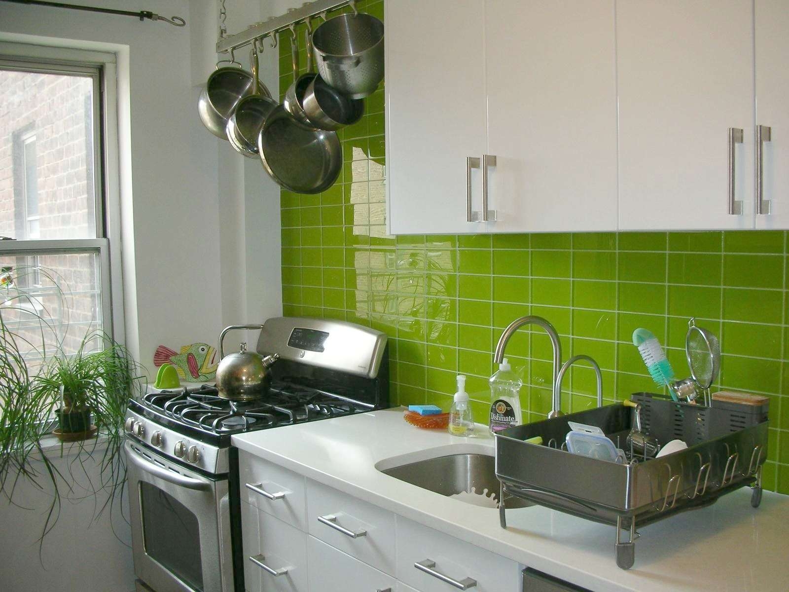 Green Tiles Kitchen Design
