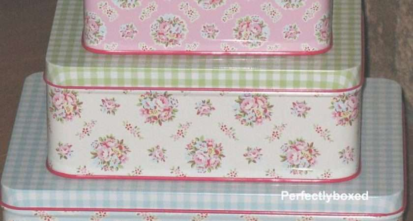 Greengate Set Tins Millie Floral Vintage Retro Storage