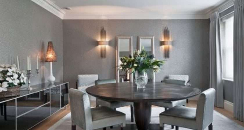 Grey Dining Room Home Design Ideas Remodel