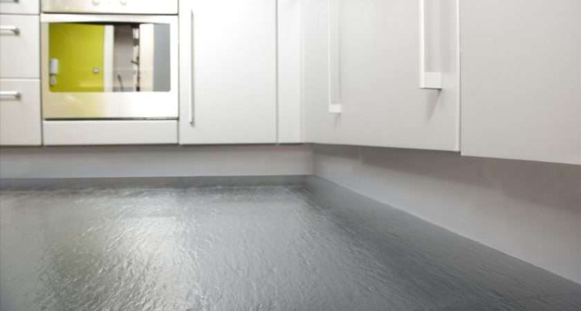 Grey Rubber Flooring Kitchen