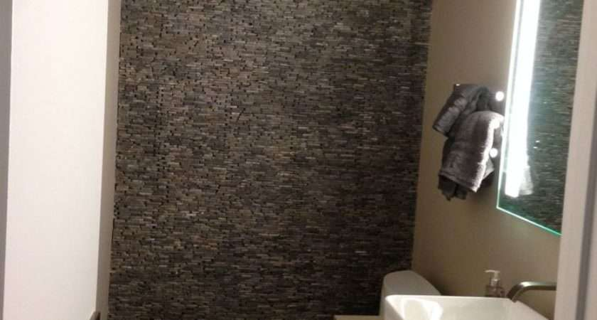 Grey Standing Mosaic Bathroom Feature Wall Pebble Tile Shop
