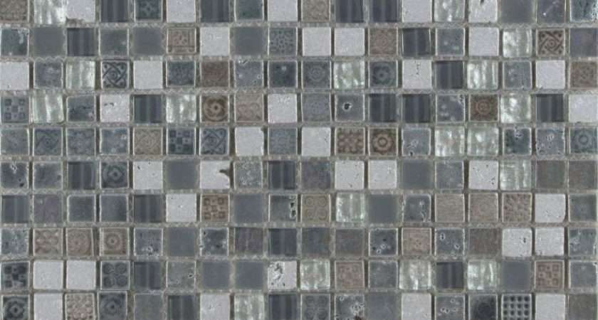 Grey Stone Glass Mosaic Tiles