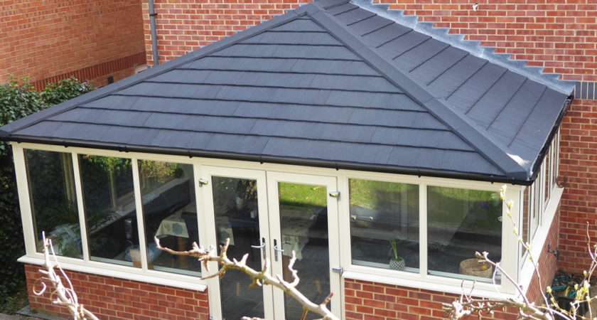 Grey Tiled Conservatory Roof Ensign