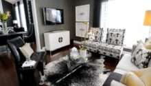 Grey White Yellow Living Rooms Peenmedia