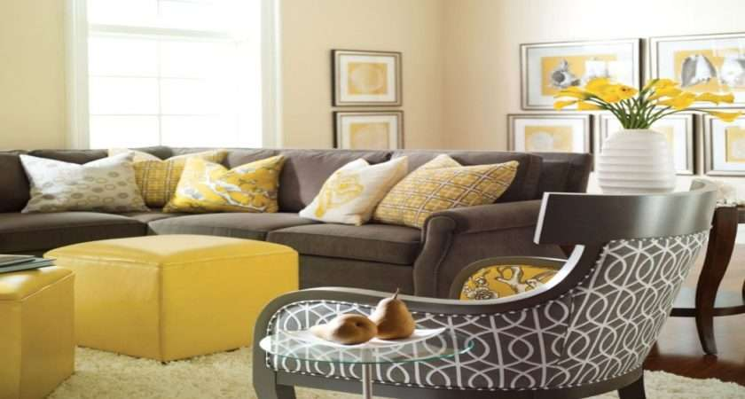 Grey Yellow Living Room Ideas