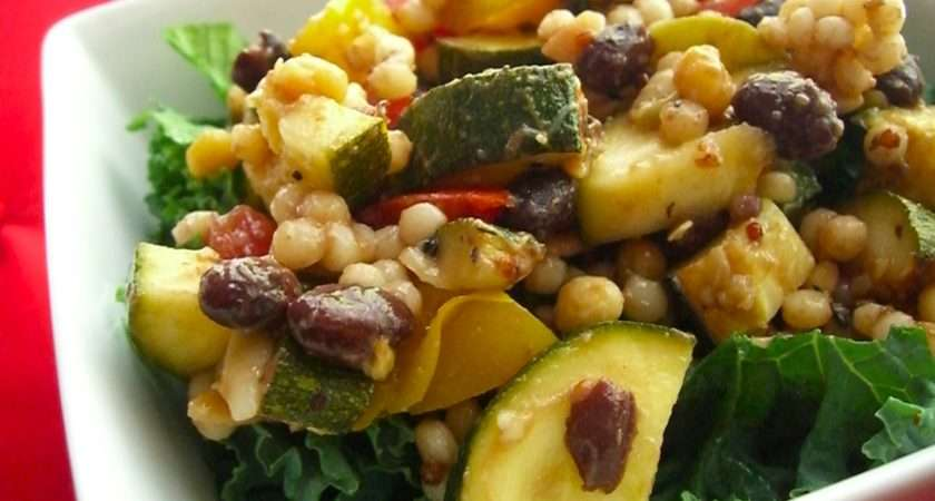 Grilled Zucchini Israeli Couscous Salad Health Happiness