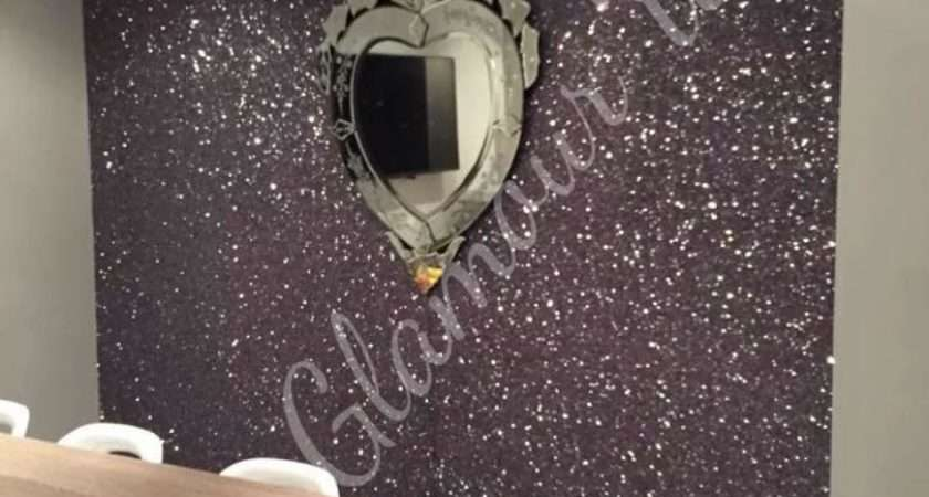 Guides Silver Glitter Wall Covering Chunky