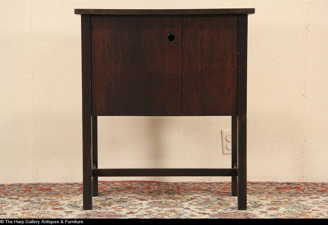 Hall Console End Table Small Cabinet Arts Crafts
