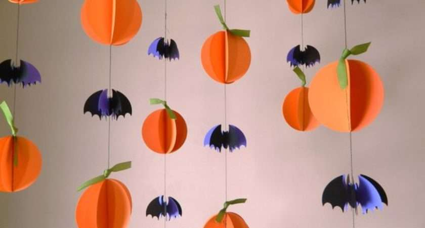 Halloween Garland Paper Decorations