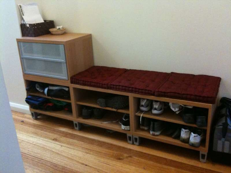 Hallway Storage Bench Ikea Hackers