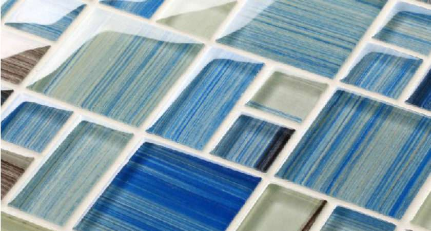 Hand Painted Glass Tile Backsplash Mediterranean Sea