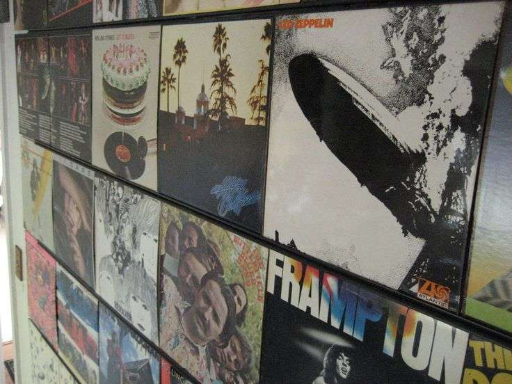 Hanging Records Wall Rooms Pinterest
