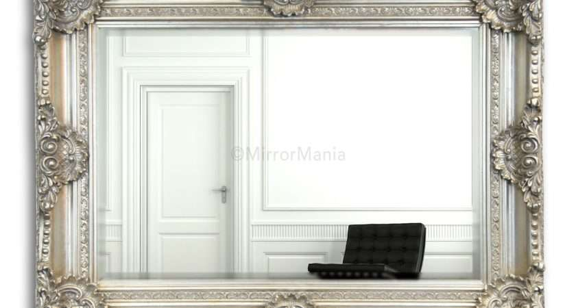 Hanover Antique Silver Decorative Framed Wall Mirror