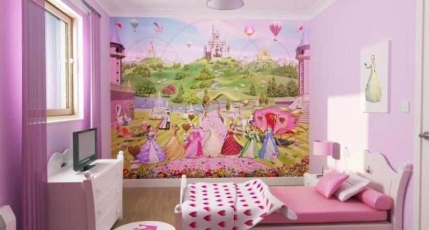 Have Girl Can Decorate Her Room Using Wall Paintings