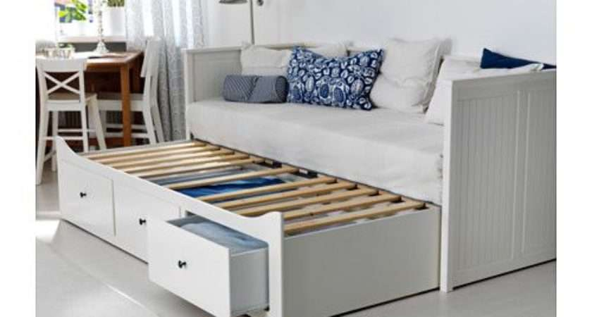 Hemnes Daybed Frame Drawers White Meistervik Firm