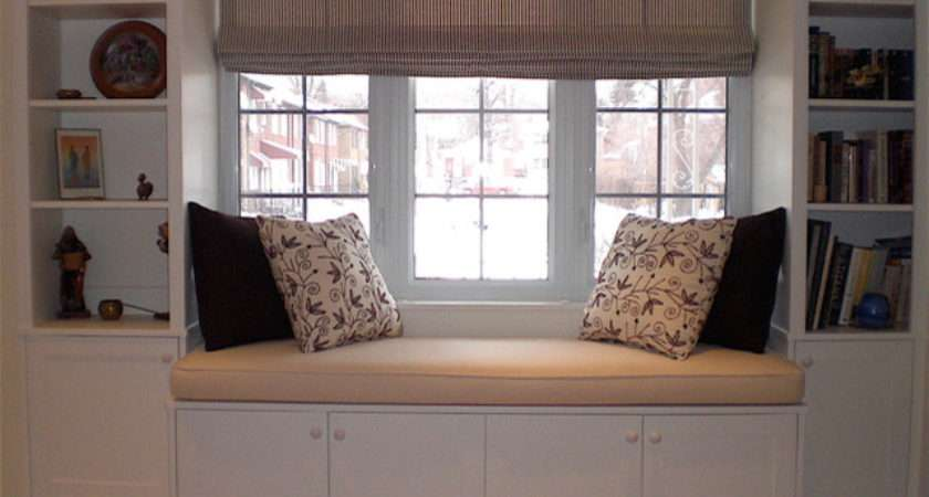 Hertle Avenue Custom Window Seat Bookcase