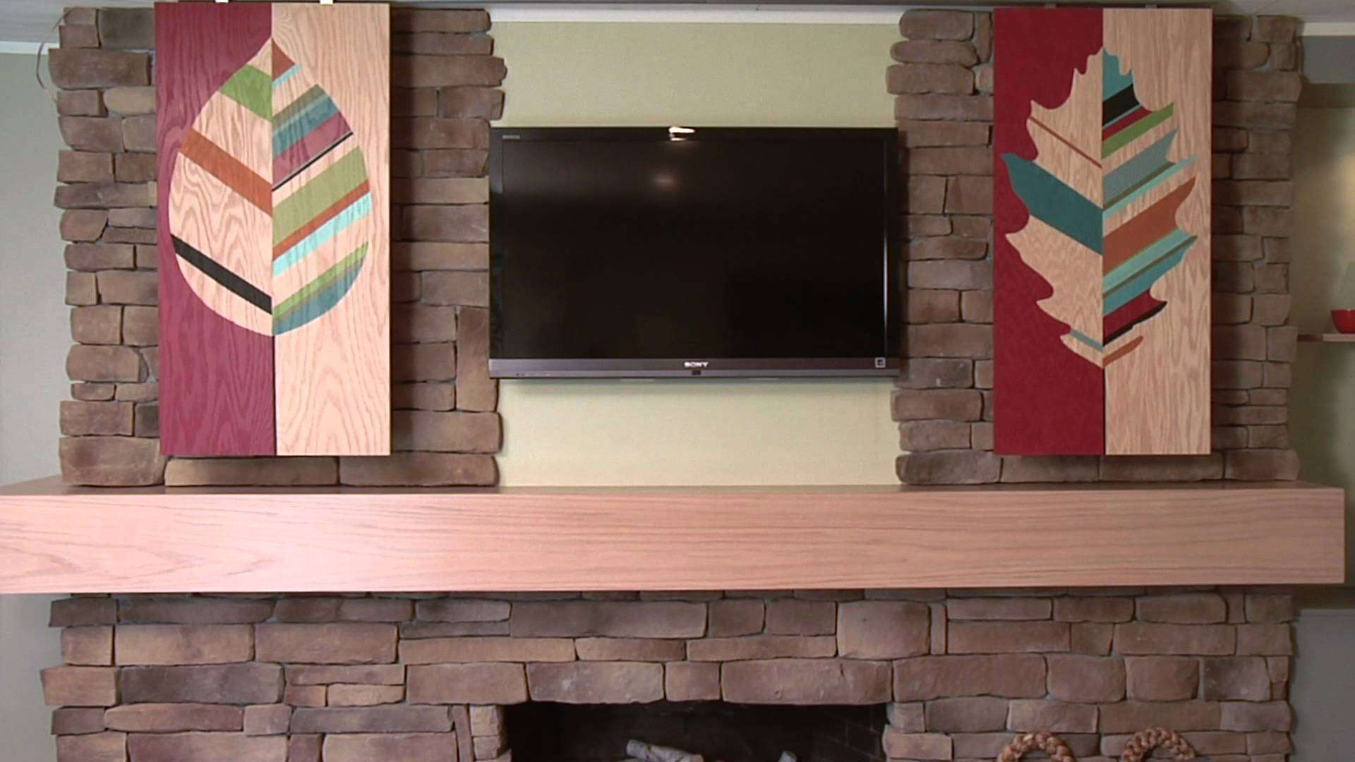 Hide Your Flat Screen Stylish Sliding Panels Youtube