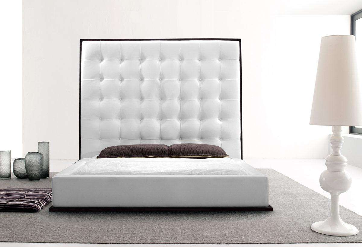 High Headboard Eco Leather Bed Beth