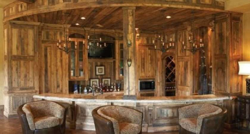 Home Bar Furniture Ideas Western Style Timber