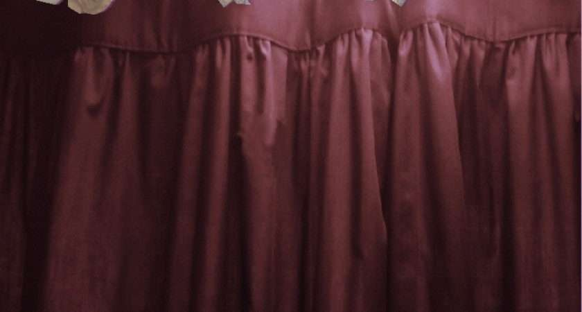 Home Curtains Solid Burgundy Dark Wine Colored Shower Curtain