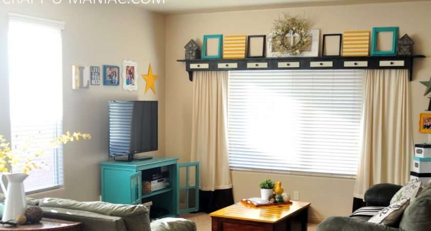 Home Decor Turquoise Yellow Room Craft