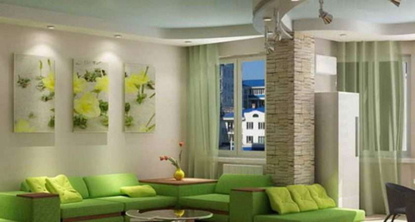 Home Decorating Green Walls Living Room Pretty Designs