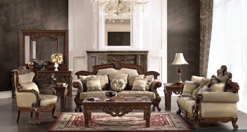 Home Formal Victorian Style Living Room Antique Luxury Sofa Set