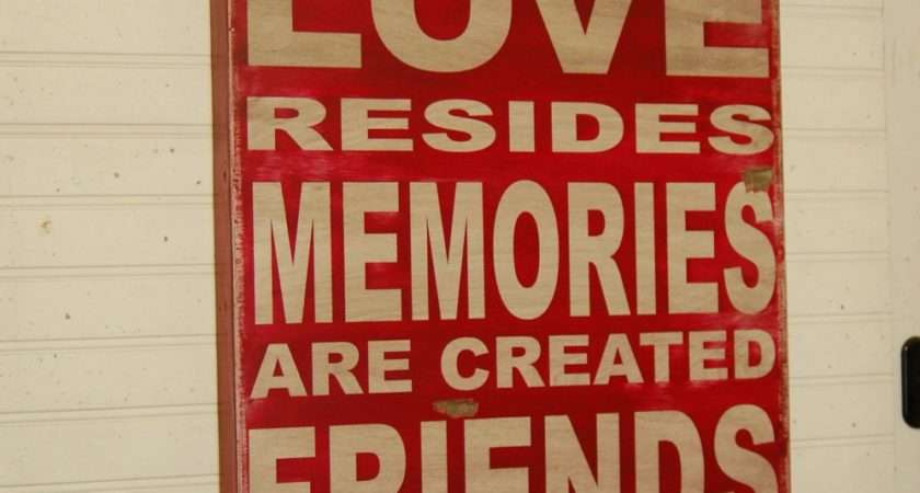 Home Love Resides Large Handcrafted All Wood Sign