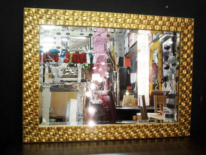 Home Mirrors John Lewis Gold Mosaic Wood Frame Wall Mirror
