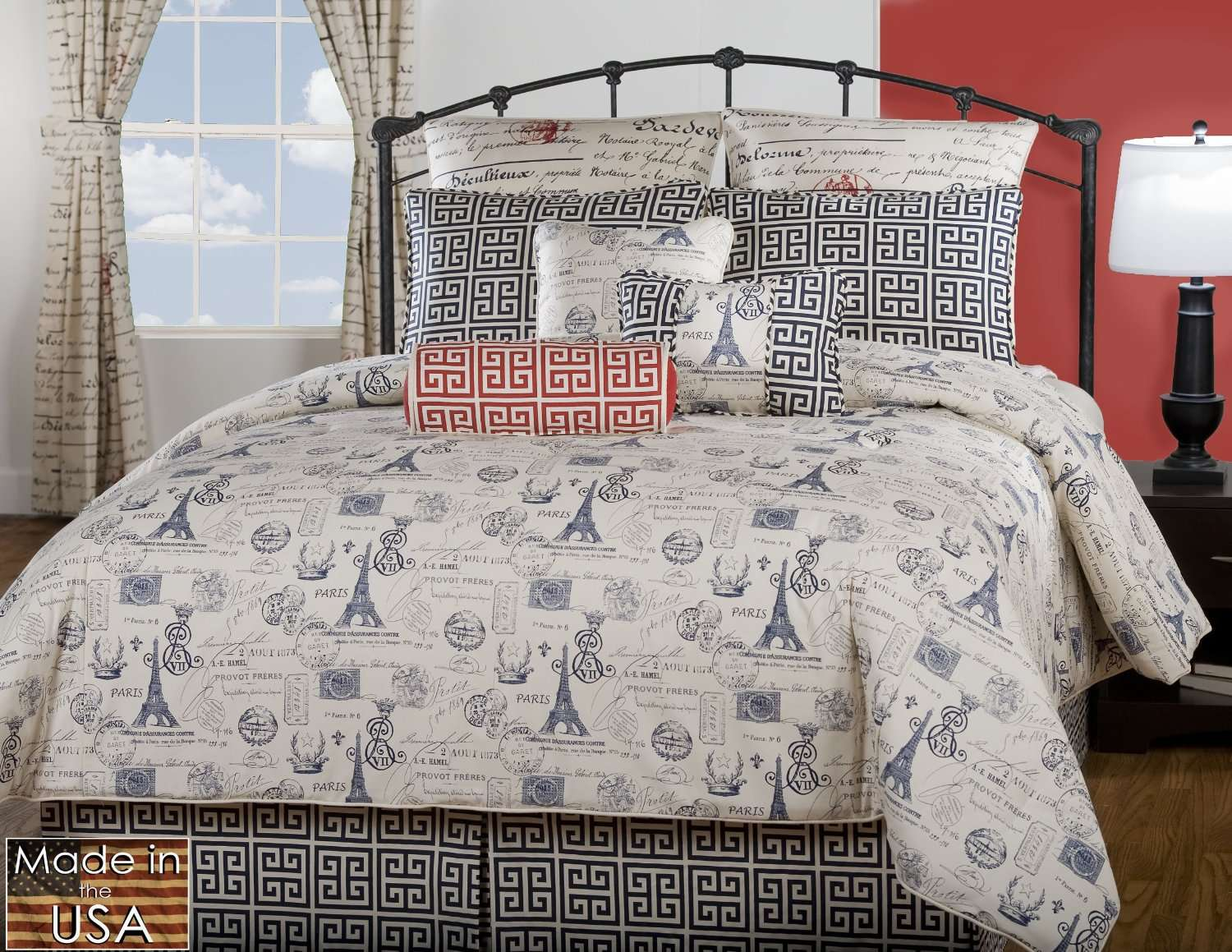 Home Paris Themed Bedding Eiffel Tower Victor Mill