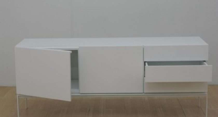 Home Storage Glare Sideboard White Lacquer
