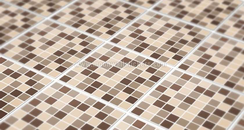 Home Tile Stickers Damson Mosaic Tiles Pack