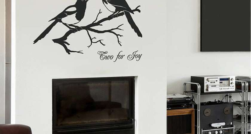 Home Wall Stickers Animal Magpies Two Joy