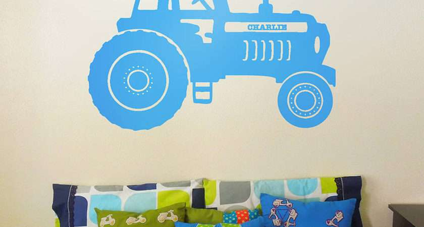Home Wall Stickers Childrens Personalised Tractor