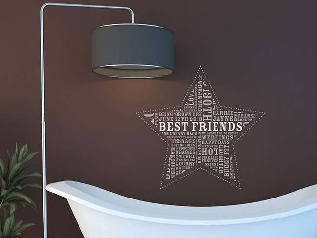 Home Wall Stickers Room Bathroom Star Bright
