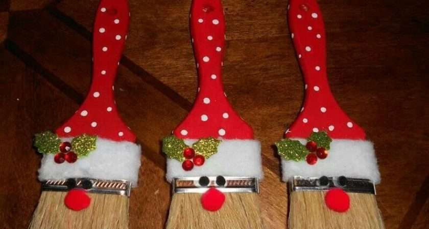 Homemade Christmas Paint Brush Santa Decorations Ehow