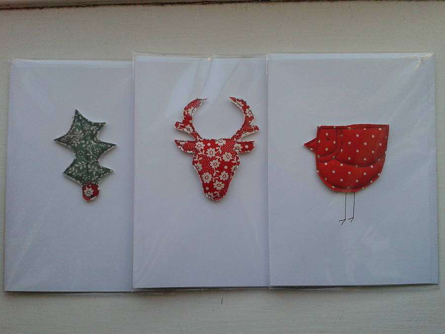 Homepage Caroline Watts Embroidery Handmade Christmas Cards