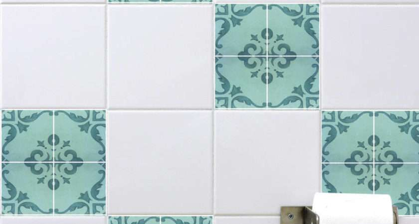 Homepage Spin Collective Spanish Tile Stickers Aquamarine
