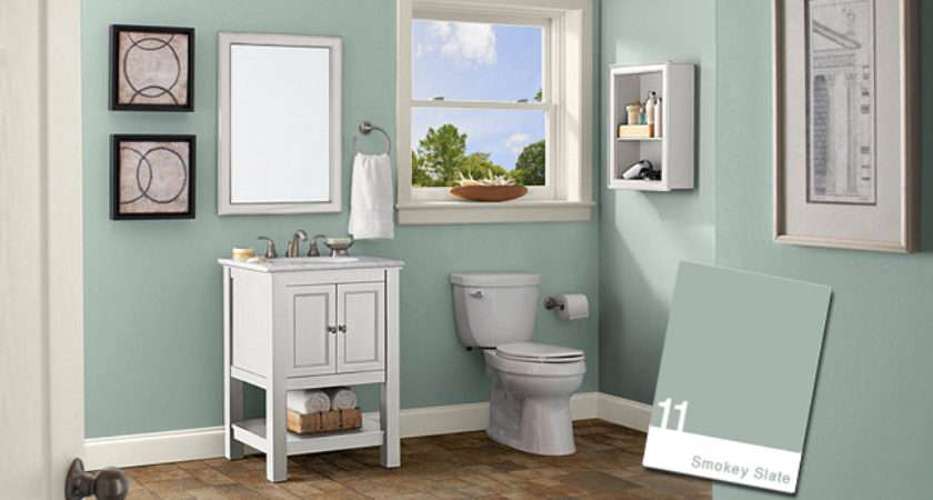 Hot Colors Your Bathroom Color Shown Smokey Slate Home