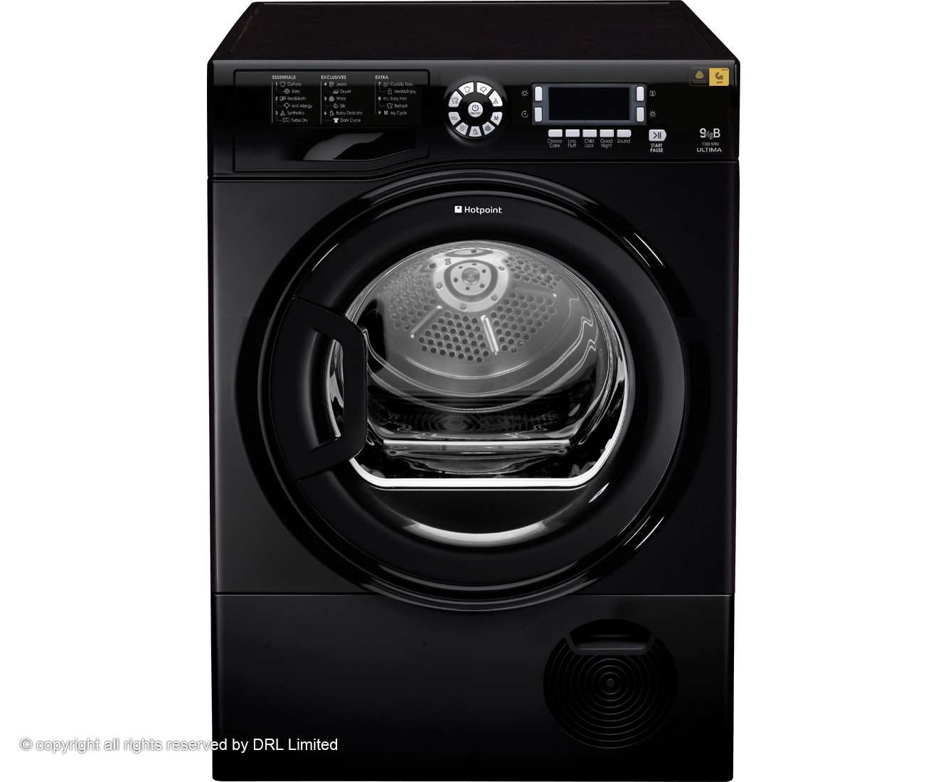 Hotpoint Ultima Tcud Condenser Tumble Dryer Black