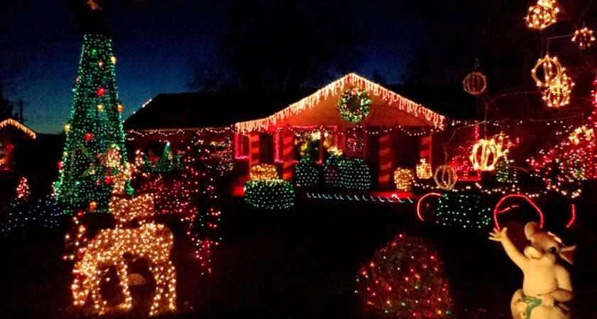 House Decorated Christmas Lights High