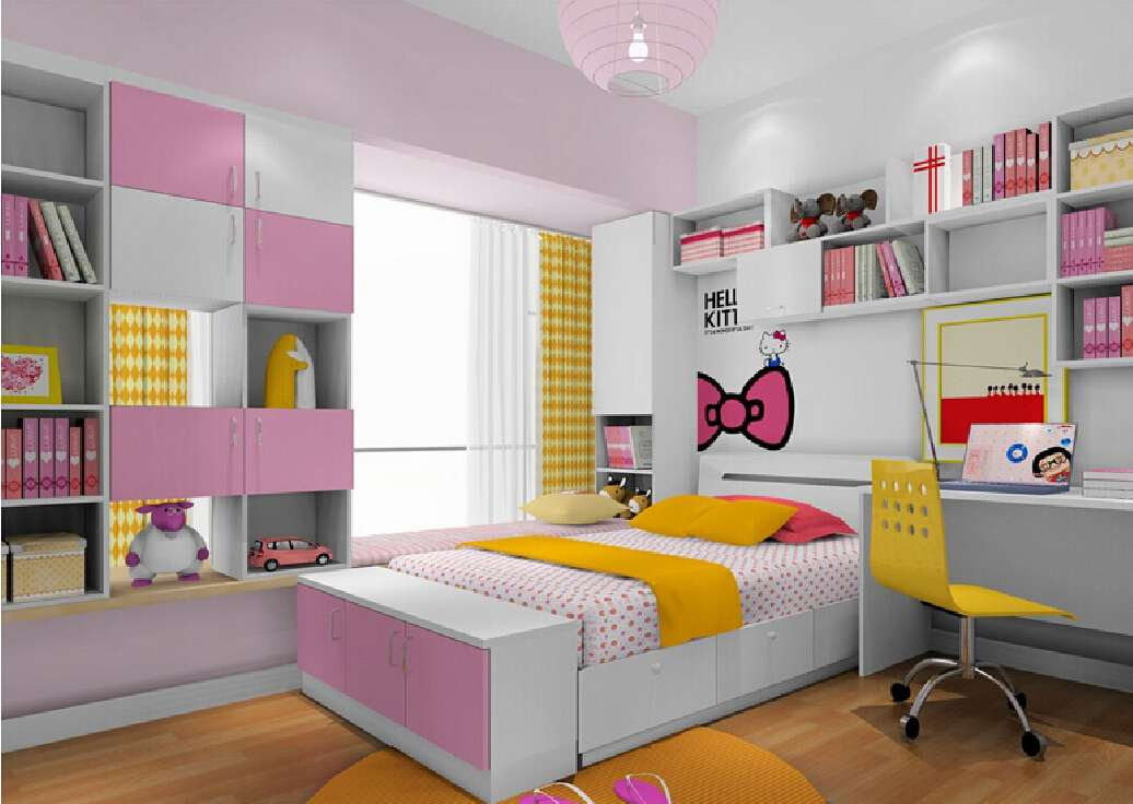House Design Pink Bedroom Children